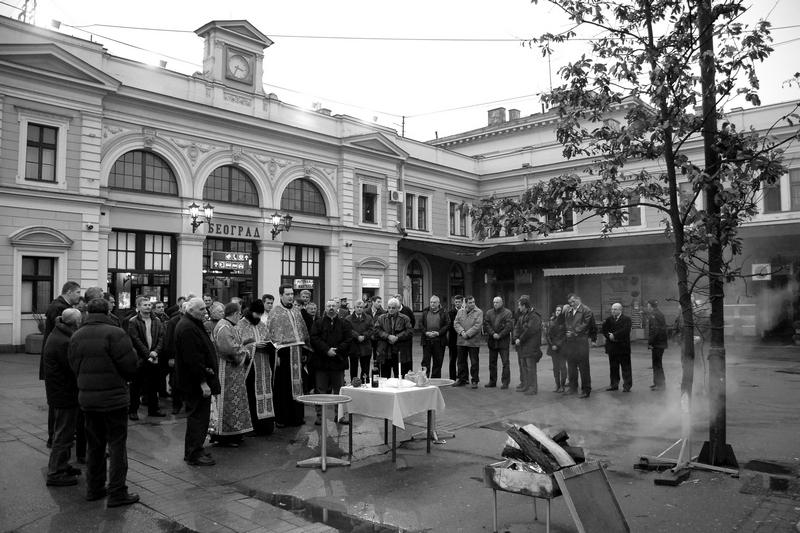 Bozidar Vitas Badnjak na Zeleznickoj stanici Beograd